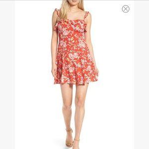 ASTR the label ruffle floral mini dress